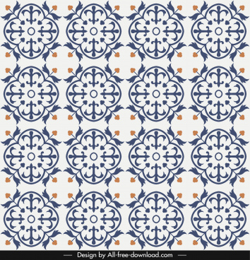pattern template classical repeating symmetrical decor