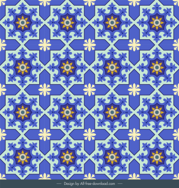 pattern template classical symmetrical repeating flat sketch