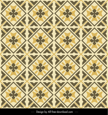 pattern template flat retro symmetric repeating design