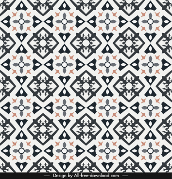 pattern template flat symmetrical repeating geometric shapes
