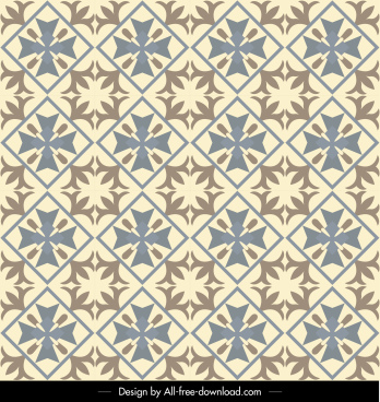 pattern template flat symmetrical retro decor
