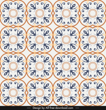 pattern template repeating classical symmetric shapes decor