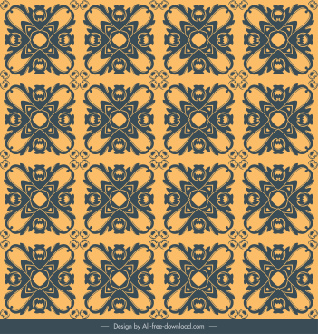 pattern template retro flat repeating symmetrical decor