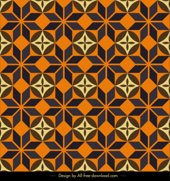 pattern template retro symmetrical repeating flat sketch