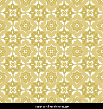 pattern template yellow decor classical repeating symmetric design
