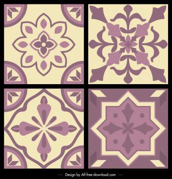 pattern templates classical floral decor symmetric design