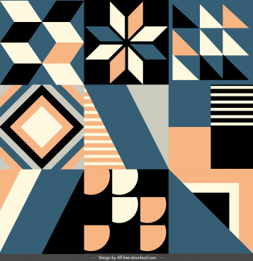 pattern templates classical symmetric geometrical decor