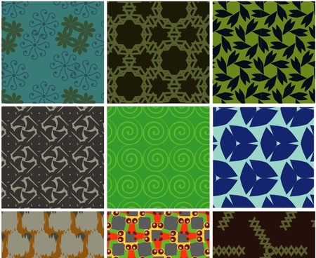 patterns collection vector graphic