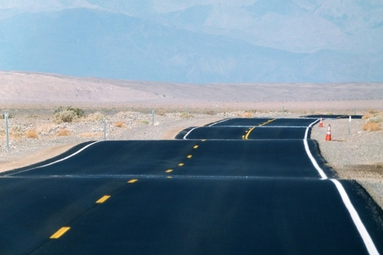 paved road death valley california