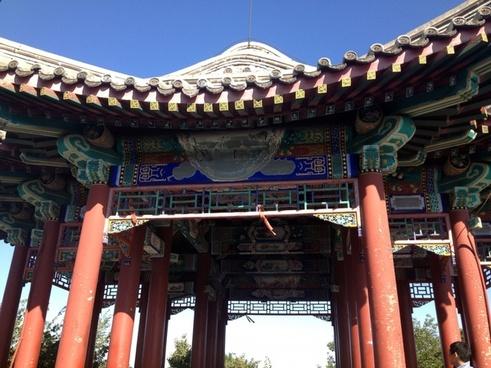 pavilion building at beijing china