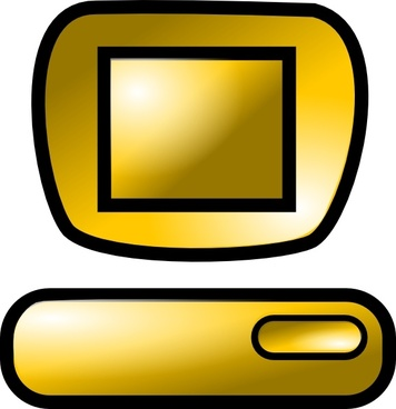 Pc Desktop Icon clip art