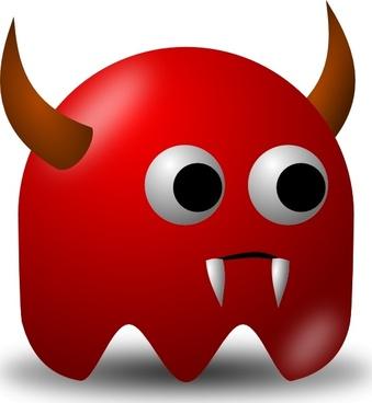 Pcman Game Baddie Devil clip art