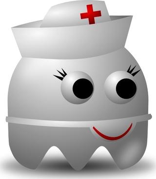Pcman Game Baddie Nurse clip art