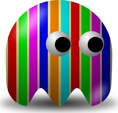 Pcman  Game Baddie Stripey clip art