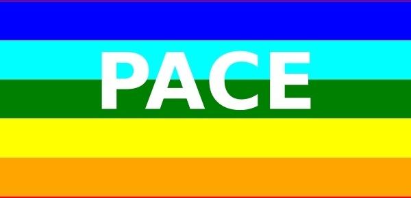 Peace Flag (italian) clip art