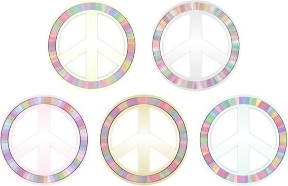 Peace Symbol - Pastels