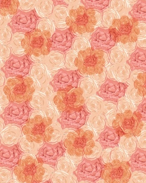 peach amp pink circle background
