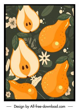 peach background colored classical flat design
