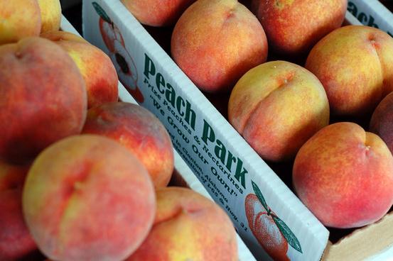 peaches in the box