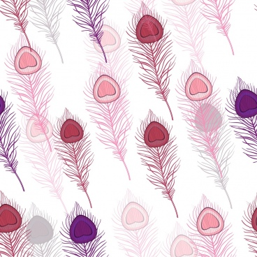 peacock feather background repeating multicolored handdrawn sketch