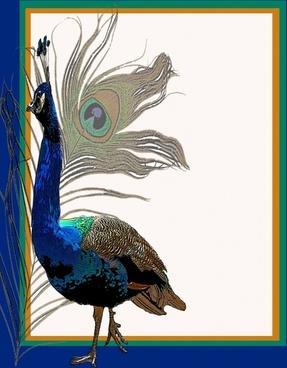 peacock invitation template 2