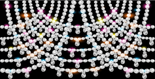 pearl and diamonds jewelry background vector