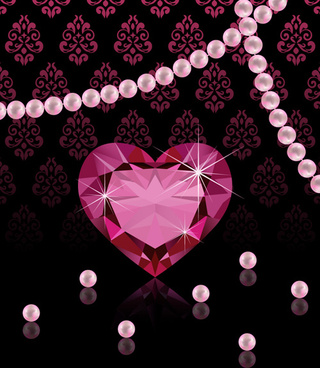 pearl jewelry with diamond luxury background vector
