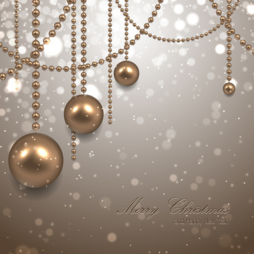 pearl ornament christmas background art
