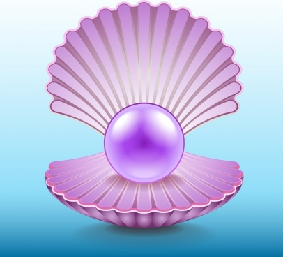 pearl shell icon bright shiny violet design
