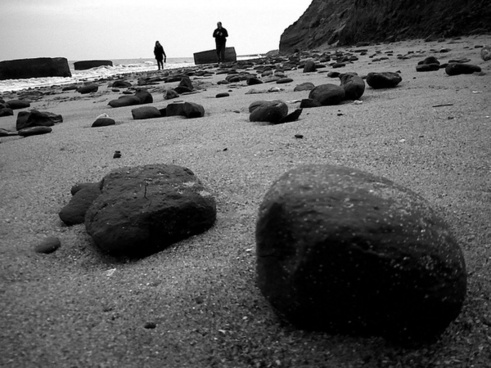 pebbles and people