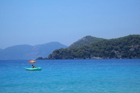 pedalo at sea