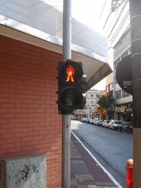 pedestrian signal stop