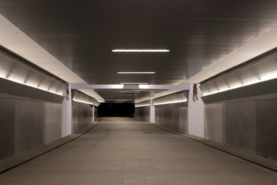 pedestrian tunnel walkway lights