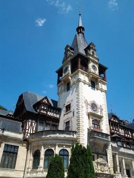 peles castle clock tower heritage