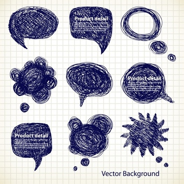 speech bubbles templates grunge ink handdrawn shapes