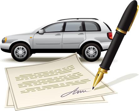 pen with car design vector