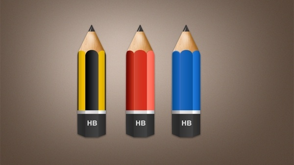 Pencil Icons PSD