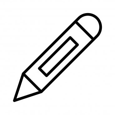 pencil line black icon