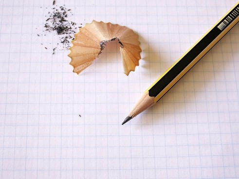 pencil note paper