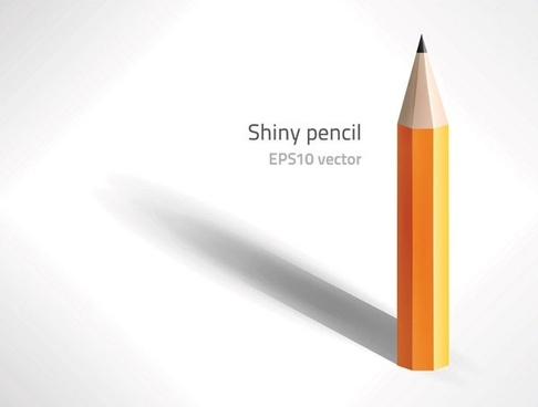 pencil icon design vertical closeup realistic style