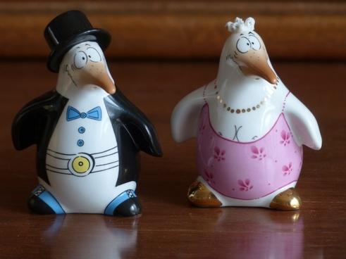 penguin bride groom