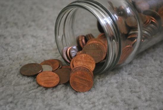 pennies coin coins