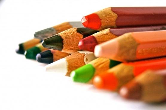 pens colored pencils school