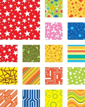 decorative background templates colorful stars abstract technology themes