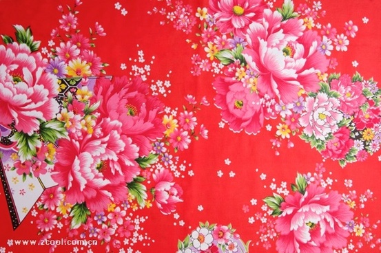 peony chinese fabric background of highdefinition picture
