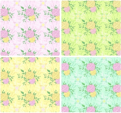 peony tiled background vector case