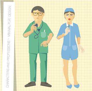 people and professions vector set