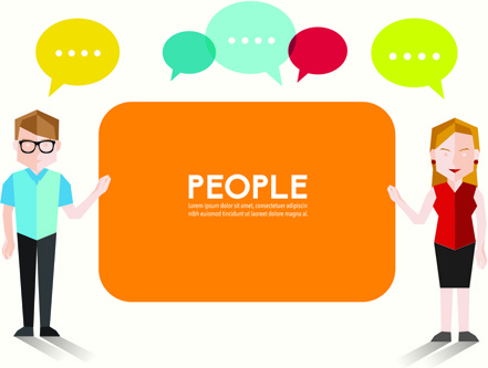 people and social vector design
