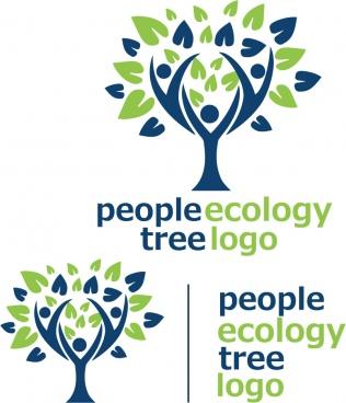 people ecology tree logo 7