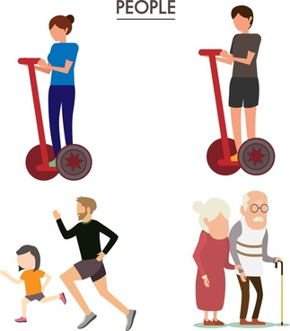 people icons design in various activities